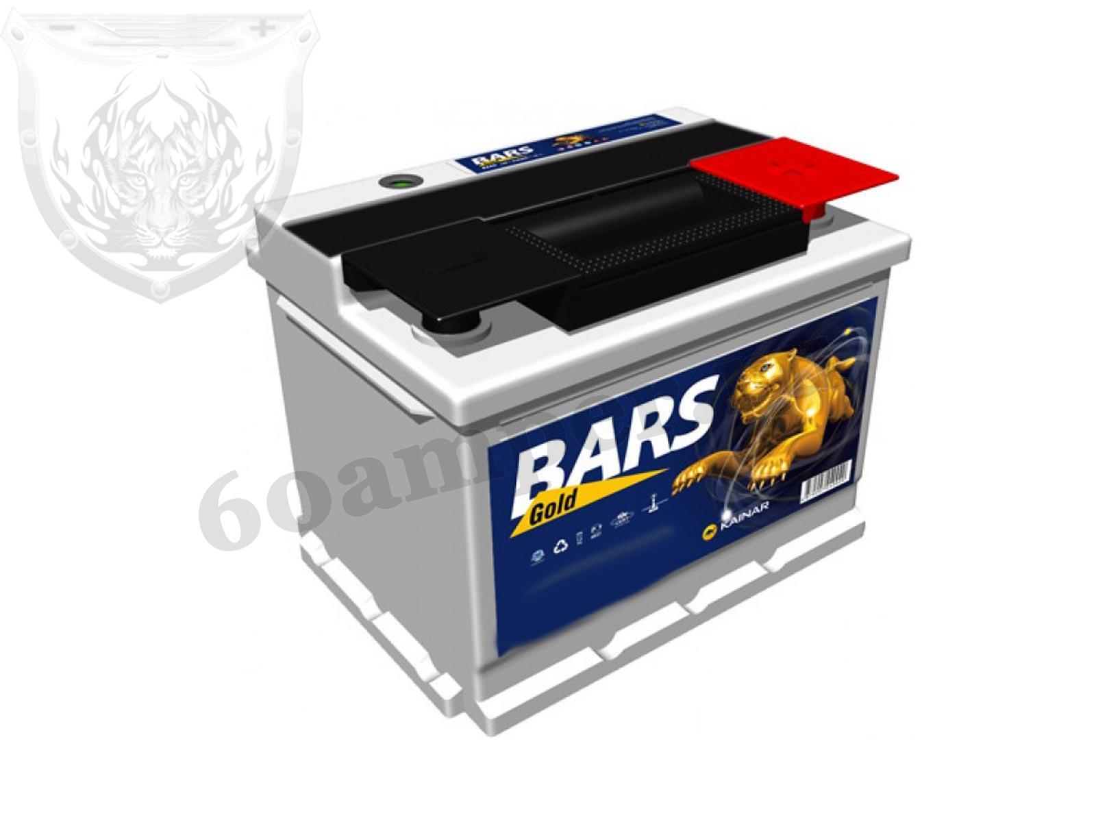 BARS 60 А/ч Обратный Silver Низкий