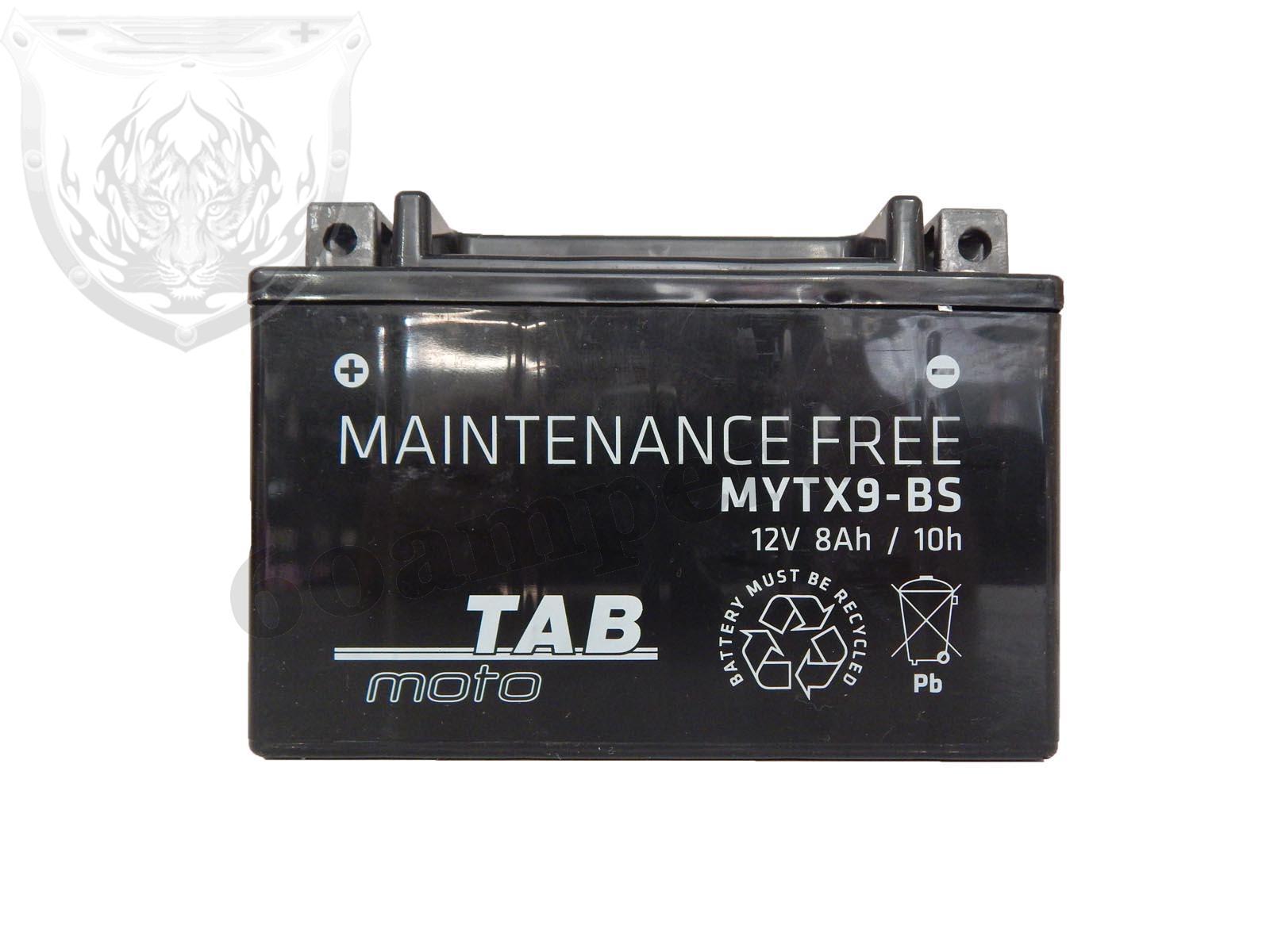 TAB 8 А/ч Прямой YTX9-BS
